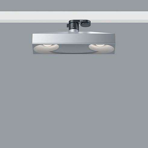 uk availability cde4f e243f 77978.000 SKIM silver Downlight for ERCO 3-circuit track system